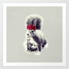 Squirrel & Bow Art Print