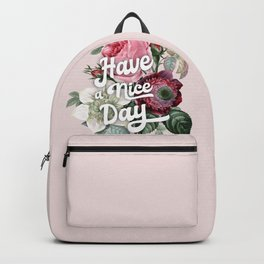 Have a nice day - retro roses Backpack