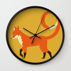 9 Tailed Fox Wall Clock