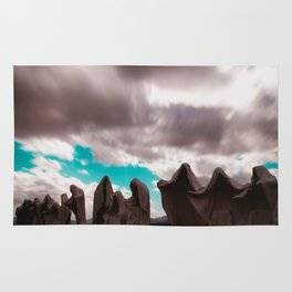Abstract Long Exposure Sky (Color) Rug