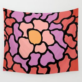 abstract shades of red and pink Wall Tapestry