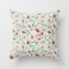 Camelia romance  Throw Pillow