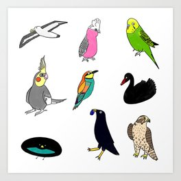 Bird Party Art Print