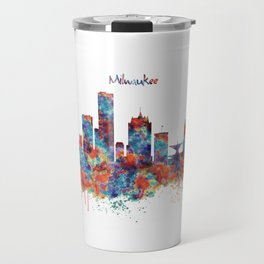 Milwaukee Skyline Travel Mug