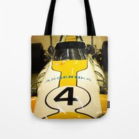 argentina Tote Bags featuring Argentina #4 by Sciuridae