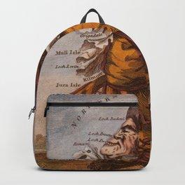 Vintage Illustrative Map of Scotland (1794) Backpack
