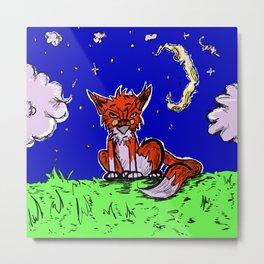 The Wise Fox Metal Print