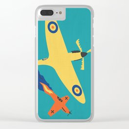 Spitfire: defender of liberty Clear iPhone Case