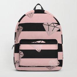 Stripe & Diamonds Backpack