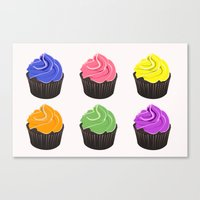 cupcakes Canvas Prints featuring Cupcakes by kourai
