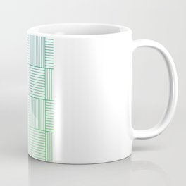 Woven Squares in Blue and Green Coffee Mug