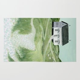Cottage on the beach Rug
