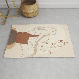 Abstract Woman Rug