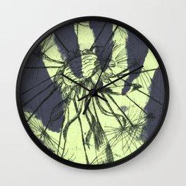 August (Innocence) - Light green & Dark Grey Wall Clock