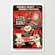Double Scary Double Feature Canvas Print