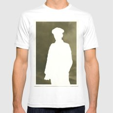 Soldier White SMALL Mens Fitted Tee