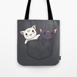 Pocket Kitties Tote Bag