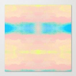 Watercolor Pastel Tides Blush Canvas Print