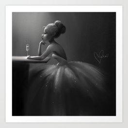 Even Princesses get the Blues Art Print