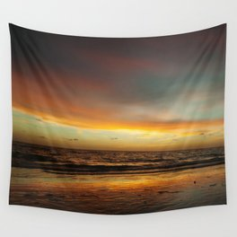 Florida Beach Sunset Wall Tapestry