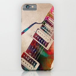guitar art 7 #guitar #music iPhone Case