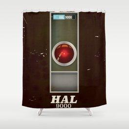 HAL 9000 Vintage magazine advertisement Shower Curtain