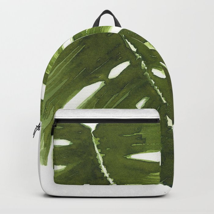 Nature leaves I monstera Backpack
