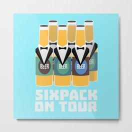 Sixpack Beer on Tour Bn1pu Metal Print
