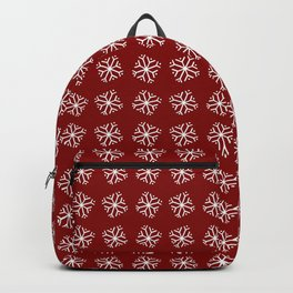snowflake 13 For Christmas red Backpack