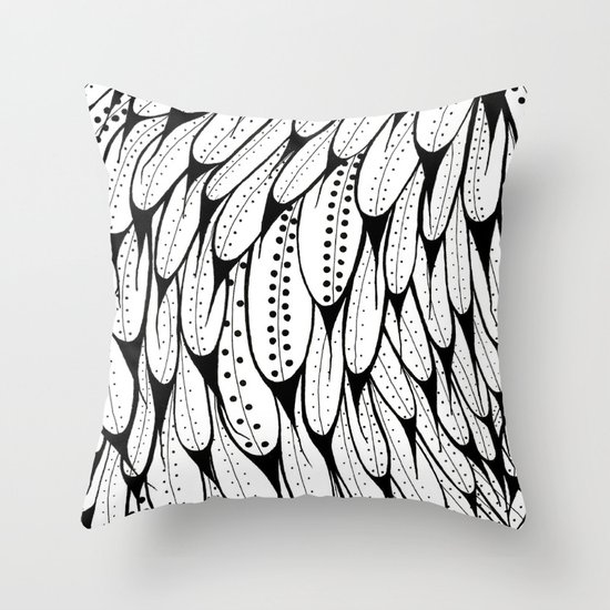 Bird Pattern Throw Pillow