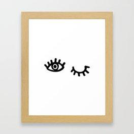 Follow / Unfollow Framed Art Print
