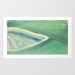 A shelf in the ocean Art Print