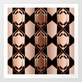 Geometric abstraction. Art Print