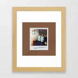 Toujours aussi fières ? Framed Art Print