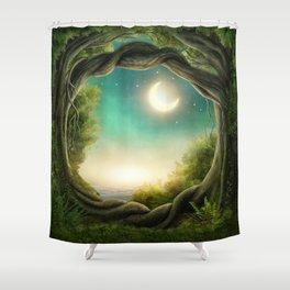 Magic Moon Tree Shower Curtain