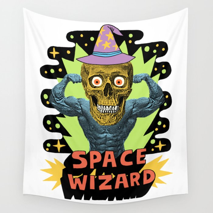 SPACE WIZARD Wall Tapestry