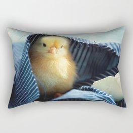 #Sweet #Chick #under the #blue #towel Rectangular Pillow