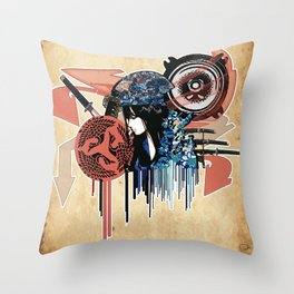 my sound style's hidden by leaves... by rmd Throw Pillow