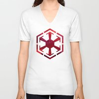 sith V-neck T-shirts featuring Star Wars Sith Empire by foreverwars