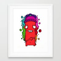 fault Framed Art Prints featuring Fault by YahYahBoozy