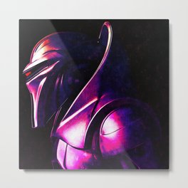 """Some Kinda' Crazy, Frakked Up Cylon Signal..."" Metal Print"