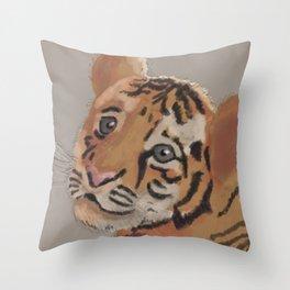 Babytiger Throw Pillow