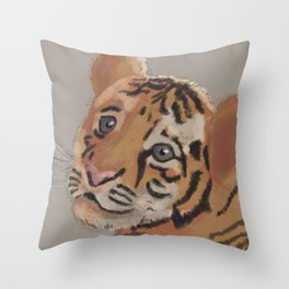 Babytiger Throw Pillow