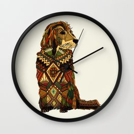 Golden Retriever ivory Wall Clock