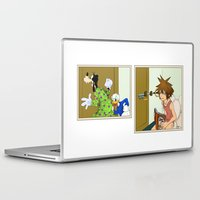 kingdom hearts Laptop & iPad Skins featuring KINGDOM HEARTS: WINNIE THE POOP   by Gianluca Floris