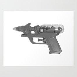 BW Candy Gun Art Print
