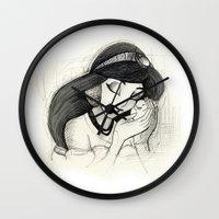 jasmine Wall Clocks featuring Jasmine by Herself