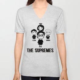 The US Supremes Court RBG Feminist Shirt for Women Men T-Shirt Unisex V-Neck
