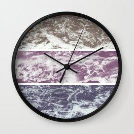 Saltwater tryptych Var I Wall Clock