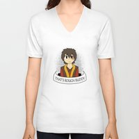zuko V-neck T-shirts featuring That's Rough Buddy by CorgiBlue